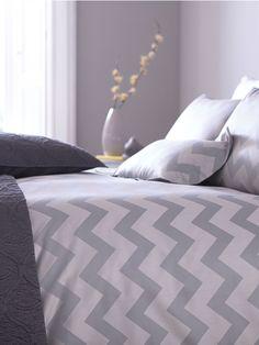 Living by Christiane Lemieux Slate chevron housewife pillowcase pair Super King Duvet Covers, Double Duvet Covers, Chevron Bedding, Linen Bedding, Bed Linen, Grand Designs, House Of Fraser, Bedroom Decor, Bedroom Ideas