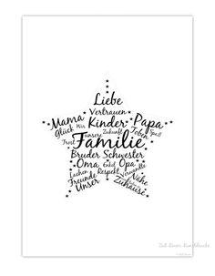 """Originaldruck - """"UNSERE FAMILIE"""" KUNSTDRUCK - ein Designerstück von…"""