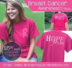 Show your support with us as we hope for a cure to breast cancer #UndertheCarolinaMoon