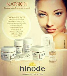 Uma linha completa de tratamento facial pra vc. Linha Natskin Hinode Cosméticos.  Compre pelo site: www.hinodeonline.net/1188440