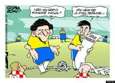 Pontapé Inicial, por http://www.amorimcartoons.com.br/