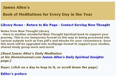 James Allen's Book of Meditations for Every Day in the Year (Read Online)