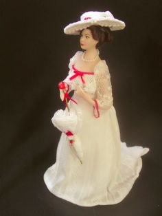 "Miniature Dollhouse Statue of Georgian Doll 3//4/"" H Pink"