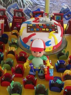 Handy Manny Cake By BarbieKrisCakes on CakeCentral.com