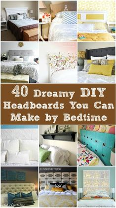 The guest bed needs a new headboard for sure. 40 Dreamy DIY Headboards You Can Make by Bedtime Home Projects, Interior, Diy Furniture, Home Bedroom, Bedroom Diy, Home Decor, Home Deco, Bedroom Decor, Diy Headboard