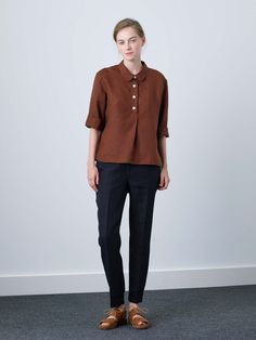 MARGARET HOWELL - PULL ON SHIRT - Shirts - Shop - Women