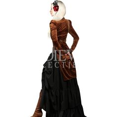 Brown Steampunk Openbust Tailcoat - DR-1303 by Medieval Collectibles