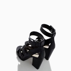 80c3c16cf9f Image 3 of HIGH HEEL LEATHER SANDAL WITH BUCKLE from Zara Casual Fashion  Trends