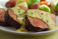 This simple recipe from Ina Garten makes a perfect Bearnaise sauce for steak. It is the same as hollandaise except vinegar and tarragon replace the lemon Salsa Bernaise, Sauce Recipes, Cooking Recipes, Yummy Recipes, Cooking Tips, Keto Recipes, Recipies, French Tips, Amigurumi