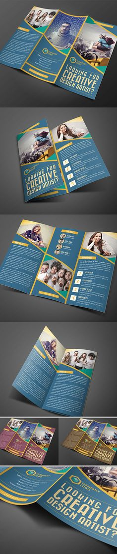 Creative Design Agency Trifold Brochure #brochuredesign #brochuretemplates #printedbrochures #trifoldbrochures #bifoldbrochures