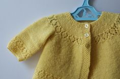 hand knitted vintage baby cardy by Grandma Peggy