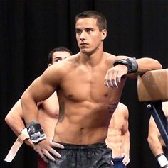 I love the US Olympics men's gymnastics team. I really do. This is Jake Dalton. He has pretty green eyes and a rocking' bod.