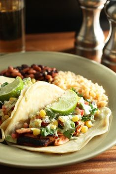 Blackened Salmon Tacos with Corn Salsa and Cilantro Lime Ranch - Cooking Classy