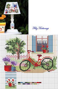 ABAJUR :3 Baharın ilk günlerinde tam da sırasıdır diye düşündüm :) Designed and stitched by Filiz Türkocağı...: