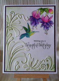 Card by Sharyn Moy - Fuschia & Hummingbird
