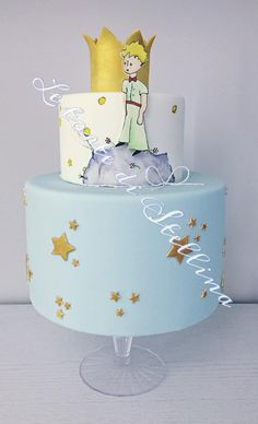 little prince cake Prince Birthday Party, 4th Birthday Cakes, Boy Birthday Parties, Baby Birthday, Little Prince Party, The Little Prince, Prince Cake, Baby Shower Decorations For Boys, Cake Decorating Tutorials