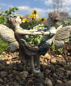 Look what I found on #zulily! Limited-Edition Fairy Isaac & Ivy Figurine by Wholesale Fairy Gardens #zulilyfinds