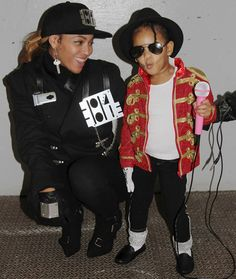 The Best Celebrity Halloween Costumes of Years Past: Beyonce as Janet Jackson and Blue Ivy as Michael Jackson