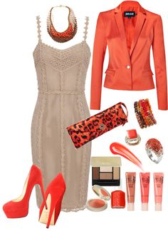 """""""Hot & Spicy Nude"""" by jaimie-a ❤ liked on Polyvore"""