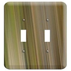 The Olive and Brown Ray of Light 2 Toggle Wallplate are very unique and cannot be found anywhere else. These USA made metal wall plates are highly detailed and made with some of the newest UV imaging technology available resulting in photograph quality prints on durable metal switchplates.