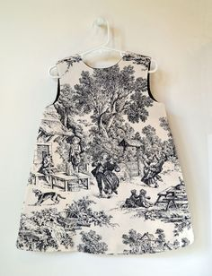Children's dress - French Toile de Jouy print -