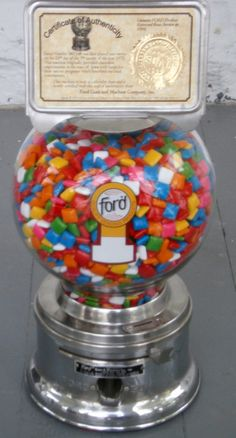 """If I had to go on an errand with my mom or dad, getting gum from the """"gumball"""" machine made the trip worthwhile for me! Impeccable Working Vintage Gumball Machine by Jorisna on Etsy, $215.00"""
