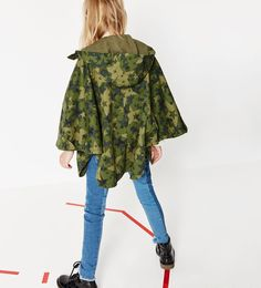 Image 1 of Star camouflage cape from Zara