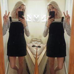 Primark pinafore dress  black denim dungarees
