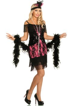 Sexy women's 1920's flapper girl fancy dress costume by Elevate Costumes…