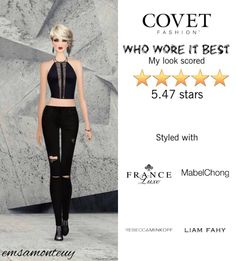 Who Wore It Best @covetfashion #covet #covetfashion #covetfashionapp #fashion #covetfall2015 #fall2015 #womensfashion #whoworeitbest #LiamFahy #DL1961 #Zimmermann #FranceLuxe #MabelChong #BrooklynHeavyMetal #RebeccaMinkoff #black
