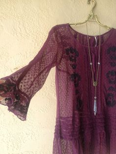 Rare Free people amazing mesh top with beads down back