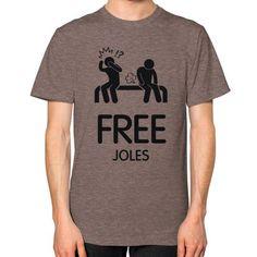 Free Joles Men's T-shirt, American Apparel T-shirt, funny t-shirt, Homer t shirt (Black Icon)