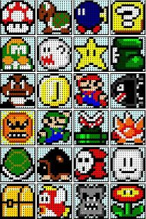 The Recipe Bunny: Super Mario Quilt but convert to crochet