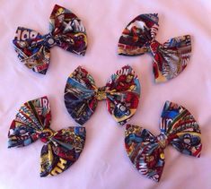 Pack of 5 Marvel Avengers Large Fabric Hair Bows by StylishGeek, $24.00