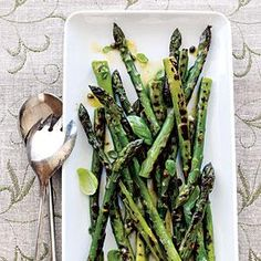 Grilled Asparagus with Caper Vinaigrette | MyRecipes.com