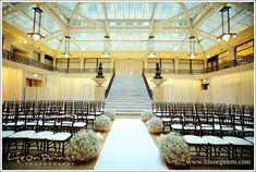 The Rookery Building // wedding ceremony, wedding venue, chicago, grand staircase