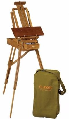 Easels 41204: Classic Half-Size French Sketch Box Easel In Brown With Carrying Bag New -> BUY IT NOW ONLY: $138.89 on eBay!