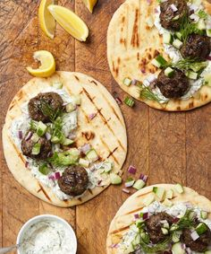 Consider kofta. It is essentially a spiced meatball with many versions that can trace their origin across the Eastern Mediterranean and Central and South Asia. This version of kofta takes a page from the Mediterranean preparation, where they're traditionally made with lamb or beef and often served with flatbread and tzatziki.