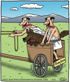 Roman Legends ; Romulus and Remus -- Argyle Sweater: Scott Hilburn