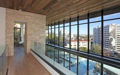 #moderndesign #architecture #SunsetStrip #curtainwall #stonewall #glassrail  http://www.thebowerygroup.com/