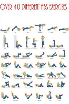 40 Different Abs Excercises - must print this. #abs