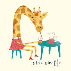 gina Giraffe animal character by Nelleke Verhoeff / Red Cheeks Factory