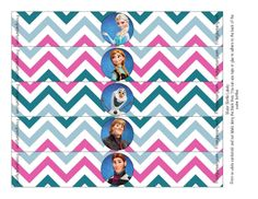 FREE FROZEN PRINTABLES | Frozen: Colored Free Printable Party Kit.