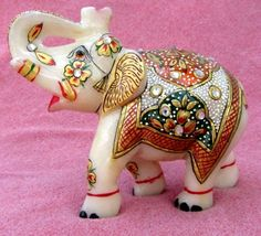 Handmade #Marble #Elephant Pair for your home buy now with #handicrafts shop #craftshopsindia