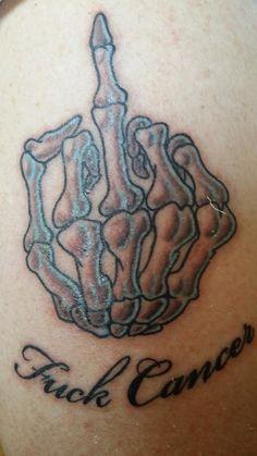 Brian's fuck cancer tattoo