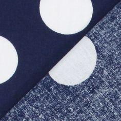 Classic Dots 3 cm, 6 - Cotton - navy blue
