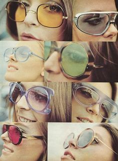 Sunglasses in 1970s were popular by large,square,prominent eyeglasses named oversized retro and pilot eyeglasses named Aviator,I choose this picture because even these eyeglasses were worn from 40 years ago but they are still popular until today.