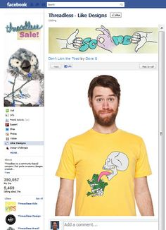 Threadless T-Shirts Facebook Page