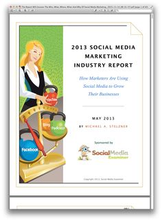 The Report Will Uncover The Who What Where When And Why Of Social Media Marketing._2015-11-14_08-31-57.pdf.png (1069×1460)