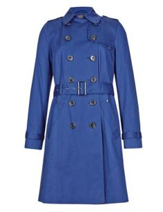Red Buttonsafe™ Pure Cotton Trench Mac with Stormwear™ French Chic, Fashion Outfits, Womens Fashion, Trench, Work Wear, Leather Jacket, Shirt Dress, Clothes For Women, Stylish